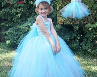 Princess Elsa Inspired Matching Girl and Doll Tutu Dresses