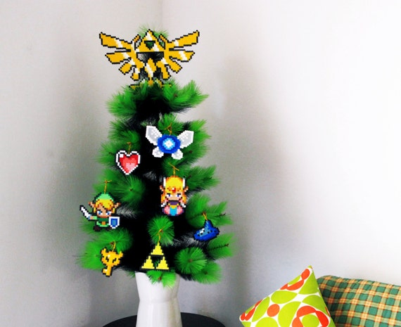 Items similar to legend of zelda inspired christmas tree for Decoration zelda