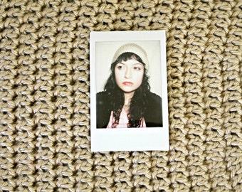 Beige/Nude Slouchy Hat-Hand Crocheted