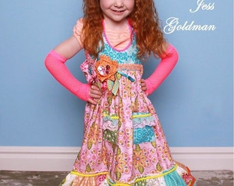 Mae Dress Pattern Girl Children Bananafana Sizes 12m-8yrs DIY Sewing Jess Goldman