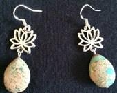 Lotus Drop Earrings