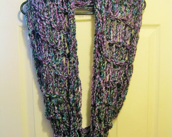 Country Loom Yarn Free Crochet Patterns : Handmade Arm Knit Double Loop Infinity Scarf Loops and ...