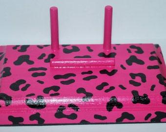 Pink Leopard/Cheetah Print Business Card Holder