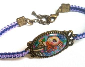 Victorian Bunny Rabbit Cameo Charm Kawaii Shamballa Bracelet