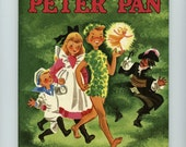 "1952 Children's Book Wonder Book Collectors Book First Edition ""Peter Pan"" - Collectors' Book Like NEW Antique Book  #45"