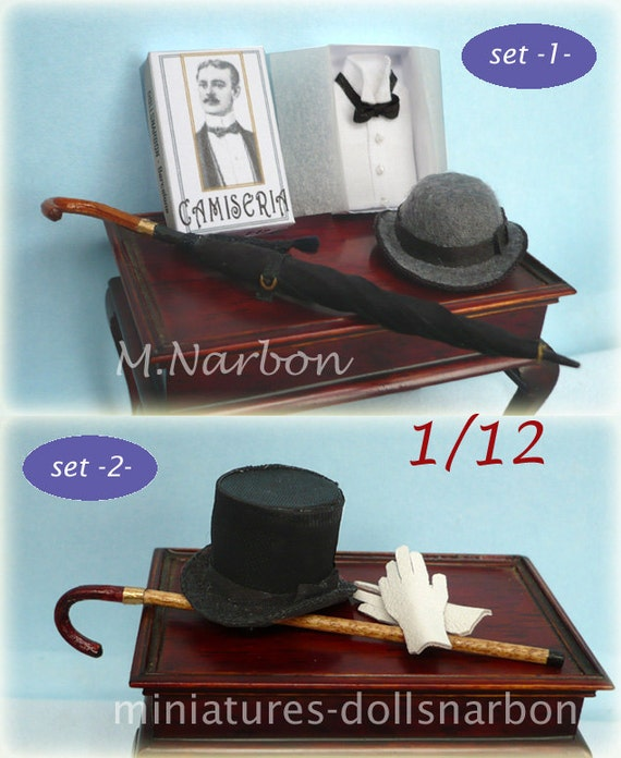 Hand made Gentlemen sets 1:12 scale