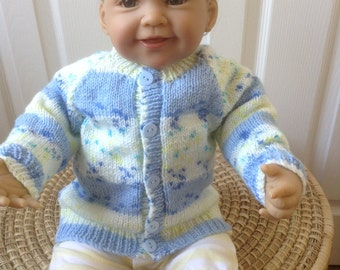 Baby Sweater / Cardigan to Fit a 3-6 month Baby Boy Ready to Ship