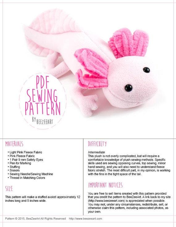 Stuffed Axolotl Pattern   www.picsbud.com