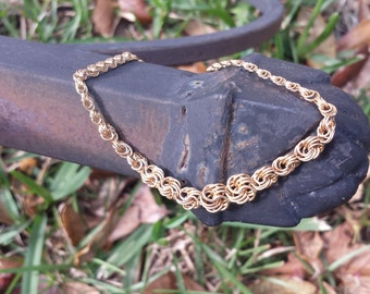 10KT Yellow Gold Intertwined Bracelet A-276