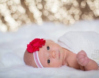 Baseball Headbands, Newborn Headband, Baby Baseball Headband, Headband, Infant Headband, Newborn Headbands, Baby Headbands, Girl Headband