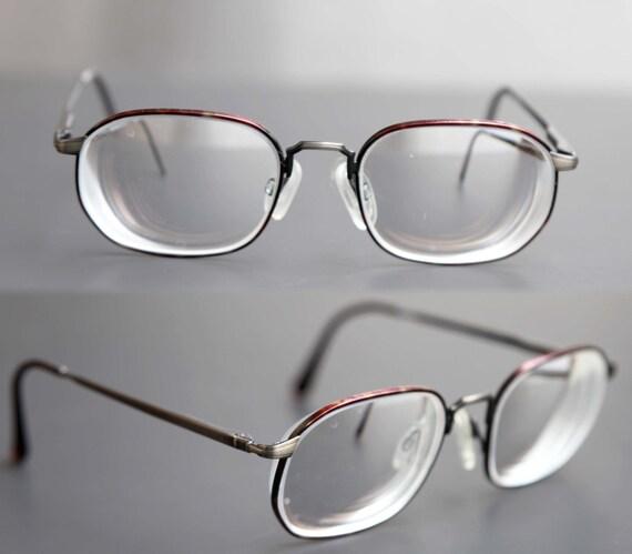 Vintage GIORGIO ARMANI Wire Rim Eye Glasses Antique Bronze
