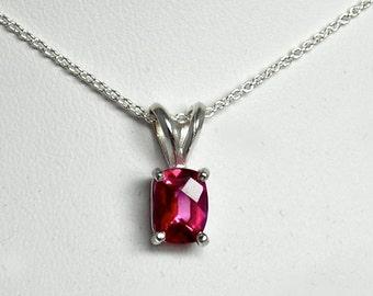 Pink Topaz Silver Pendant
