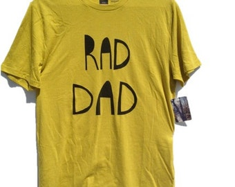 Father's Day T-Shirt, Rad Dad, Lime, Level Apparel, BDG