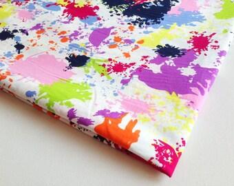 Art Fabric, Street Art, Graffiti Cotton Fabric, Pink Purple, Green, Orange Splash Color on the frame,Table Clothes, pillow cover CT253