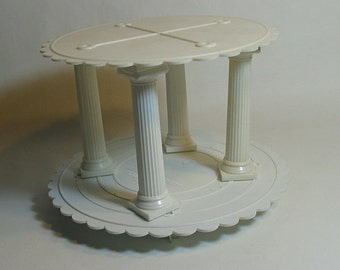 wedding cake separator plates and pillars items similar to wilton cake columns for cake baking 24273