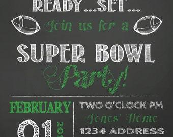 SALE SUPER BOWL Party invitation super bowl invite