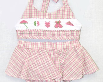 Swim Suit - Swimsuit - Baby Girl Clothes - Smocked Swimsuit - Smocked Swim Suit - Girls Smocked Swimsuit - Beach Clothing 412288 - I137