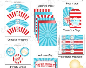 Carnival Baby Shower Party Pack - Printable - Instant Download