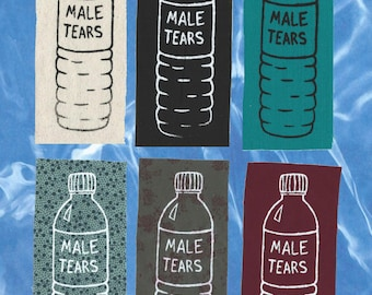 Male Tears screen-printed patch