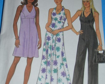 New Look 6757  Misses Dress and Jumpsuit Sewing Pattern - UNCUT - Sizes 8 - 18