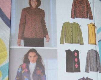 Simplicity 5907 Misses Jacket or Vest Sewing Pattern - UNCUT - Sizes Xs S M