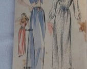 Vintage 1940s Hollywood Pattern 1479 Nightgowns and Negligee  Size 16 Bust 34 All 11 Pieces
