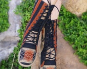 Women's Tribal Boot, Womens Boots, Ethnic Boots, Boho Boots, Hippie Boots, Vegan Boots, Festival Boots, Gypsy Boots, Boots, Tribal Boots