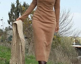 Long Tunic top, Fleece Warm Winter Dress, Fleece Tunic, Womens Winter Dress, Fleece Dress, Casual Warm Dress, Womens Dress