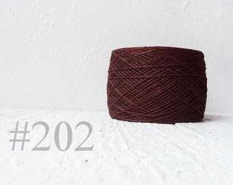 Brown Linen yarn 100% natural linen # 202