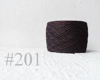 Dark Brown linen crochet thread 3ply #201