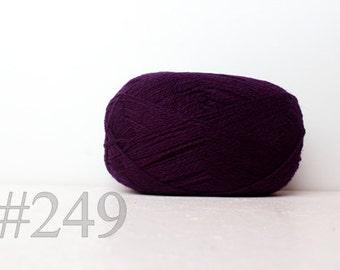 WOOL yarn 100%-knitting yarn - purple #249