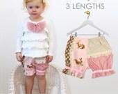 Baby sewing pattern pdf, bloomer pattern, diaper cover pattern, nappy cover pattern,  baby bloomers pattern, baby pants pattern PATCHWORK