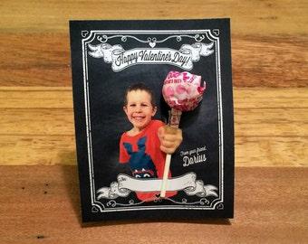 Kids Valentines, Custom Photo Valentine Day Cards, digital file JPEG