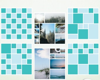 """6 Digital Scrapbook Templates - 12"""" x  12 """" PSD Photoshop & Elements - Personal and Commercial G5029"""