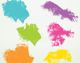 Paint  Smears & Splats Clip Art Pack - Candy Store - ClipArt Scrapbooking Instant Download Printable G7072