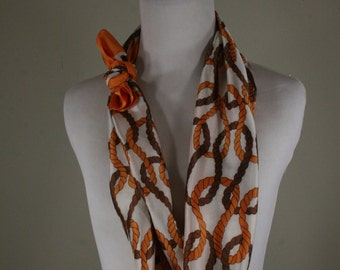 1970s Looped Rope Oblong Acetate Scarf