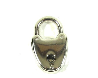 Small Padlock, with working key, chrome nickel lock