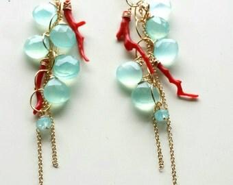 Liquid Sunshine Ocean Goddess Earrings