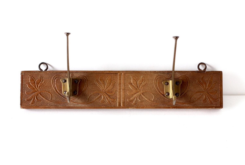 Vintage art nouveau coat hooks wall hooks coat by crolandco for Artistic coat hooks