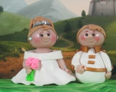 Princess and Prince for Fairy Garden or Cake Topper OOAK Snow White and Charming handmade
