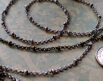 Rolo ball chain-New 2mm rolo chain with 2.5mm ball-Rolo ball chain-high quality by the foot-by the roll-jewelry makers chain-KR872