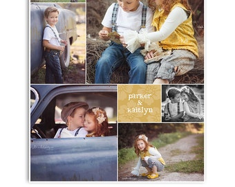 Blog Storyboard - Print Collage Template - 16x20 Print Photoshop Template - 1070
