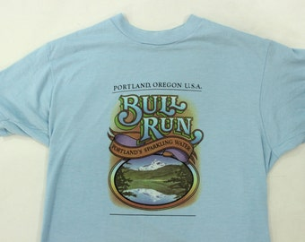 1980's Portland Oregon Bull Run T-Shirt L