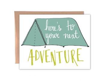 Congratuations, Graduation, New Job, New Adventures Card