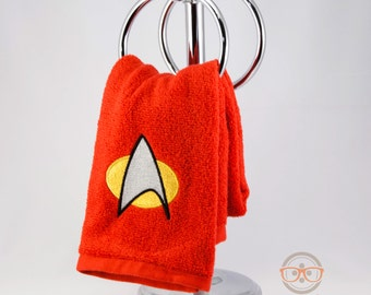 Star Trek TNG Command Inspired - Embroidered Hand Towel