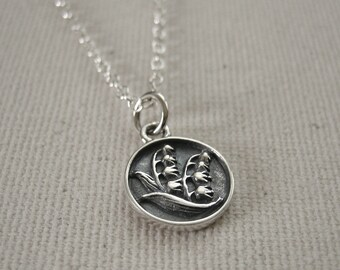 Lily of the Valley Sterling Silver Necklace - Nature Jewelry, Woodland Necklace
