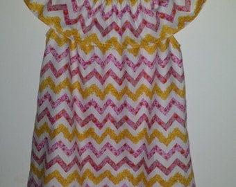 Floral Chevron Dress