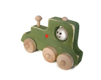 Wooden Toy Train, Wood Locomotive, Wood Train