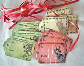 Printable Krampus Gift Tags. Print your own Christmas labels Instant Download Krampus card Last minute creepy gothic wrapping DIY