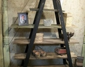 Double 6 Step Ladder Shelf Frame -  We Will Paint Or Leave It Natural